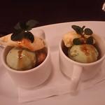 オステリア デル カンパーニュ - 本日のドルチェ ピスタチオのアイスクリーム