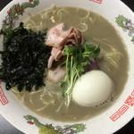 超純水採麺 天国屋 - 2018/3/11限定・わさびが合う 煮干し豚骨らーめん(800円)