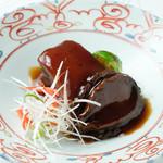 幸せ中国料理 ローズ上海 - 黒鮑と島豚の角煮