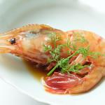 幸せ中国料理 ローズ上海 - 特大牡丹海老の梅酒漬け