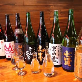 こだわりの日本酒30種類を取揃え!魚×日本酒、最高の組合せ!