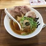 黒船 - 秋刀魚だしラーメン三陸あわびトッピング1000円