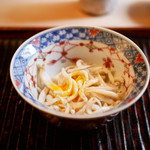 緒方 - 氷魚と玉子の黄身のご飯