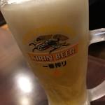目利きの銀次 - 「生ビール(中)」538円也。