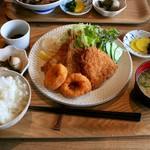 イネカフェ - 魚フライ ランチセット
