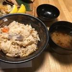 鉄板串焼き 咲蔵 - 炊き込みご飯