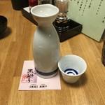 鉄板串焼き 咲蔵 - 燗酒(黄桜黒獅子)