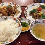 すけろく - 料理写真:W中華セット1,380円。食べたい2品を選べます。