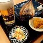 82289177 - 本日の目利き季節魚の直火定食(ホッケ)750円