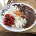 味覚 - カレーライス生卵入り 600円