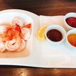 シュリンプ&オイスターハウス - 茹でたて海老のカクテル  3種のソース