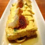 沖縄料理 馳走屋 楽 - アーサーの出汁巻き卵