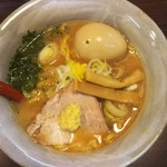 麺屋 大河 - 料理写真:味噌ラーメン+煮卵(750円+100円))