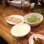 82296089 - 焼き餃子+水餃子+小ライス