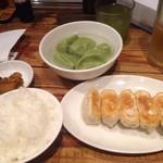 82296095 - 焼き餃子+水餃子+大ライス