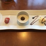 八兵衛 - デザート イチゴ、ココナッツミルク、バニラアイス