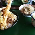 お食事処 つくし - 天丼と冷蕎麦セット
