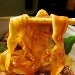 花紋 - 刀削麺:麺リフト