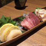 北海道ラクレットチーズ×肉バル  GRILL CHICKEN MARKET - こだわりの鮮魚 3種盛り合わせ(1599円税別)