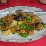 天津 - 茄子とひき肉の味噌炒め
