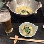 82303649 - ビール+雑炊(ちゃんこの〆)
