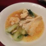 赤坂 維新號 - 青梗菜と蒸し鶏のあんかけ炒め