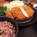 KATSUSHIN - 料理写真:1802_KATSUSHIN-かつ真-_GOKU ROSU KATSU set@460THB(極厚ロース豚カツセット)