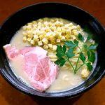 麺屋ひなた - 料理写真:じゃがいもとキノコのポタージュそば¥800 2018.3.10