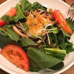 HALE海'S - ほうれん草と温泉卵のサラダ