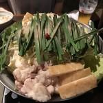 龍 - 特製ピリ辛醤油   もつ鍋