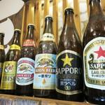 餃子のさんくみ - ドリンク写真:充実の瓶ビール★