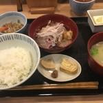 旬菜 みつや - 朝〆かんぱち刺身おろしポン酢
