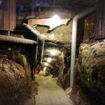 磨洞温泉 涼風荘 - 急な下り坂