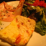 神楽坂 zio - 料理写真:ランチコース 前菜とモルタデッラハム、サラダの盛り合せ