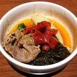 小肥羊 - 大鍋(麻辣のみ)大辛 野菜、木耳、羊肉