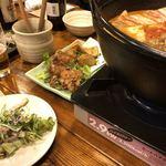 居酒屋 龍のす - ゴロッと香草パン粉ポテトと鶏唐和風マヨネーズ