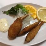 ステーキハウス スエ - ワカサギと蟹の爪 1,400円