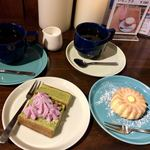 古民家カフェ蓮月 - 料理写真:ブレンドコーヒーのデザートセット