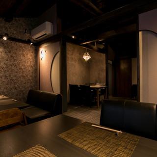 2F個室は、町家独特の落ち着いた雰囲気です