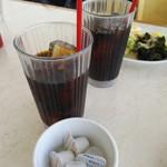 ヴィラローマ - ドリンク写真:ピザセット¥1290のアイスコーヒー