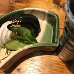 鶏と湯豆腐 居酒屋 あおぎ屋 - お漬物