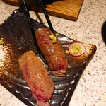 82341430 - 牛寿司炙り