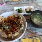天ぷら Dining ITOI - かき揚げ丼セット ¥800
