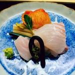 木山 - 平目は生のコノワタで、赤貝