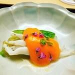 木山 - 白魚 独活、うるいの黄身酢