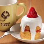 タイガーカフェ - 苺のショートケーキ
