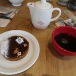 ル・パン・コティディアン - キャラメルチョコレートタルトとオーガニックコーヒー(HOT)