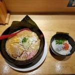 82348083 - 濃厚味噌らー麺と明太しらす贅沢丼