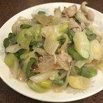 三ちゃん食堂 - ネギ肉炒め