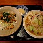 さくら通り食通 - 昔風チャンポン(小)&煮込ホルモン丼(小)